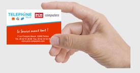 Cartes de visite PCM Computers