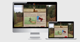 Graphisme du site Objectif Chasse Nature